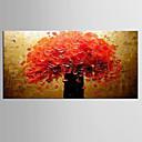 Ručno oslikana Sažetak / Mrtva priroda ulja na platnu,Moderna / Klasika Jedna ploha Platno Hang oslikana uljanim bojama For Početna