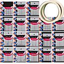 18種類のパターン作るパターンネイルアートツール2個ネイルアートの粘着テープを与えます