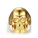 Prsten Tikovina Skull shape Zlatan Jewelry Halloween Dnevno Kauzalni Sport 1pc