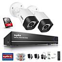 sannce 1.0mp 720p 4CH hd 4 in1 TVI H.264 DVR u / system otvoreni CCTV sigurnosnih kamera ugrađena u 1TB HDD