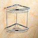 現代的なクローム仕上げ真鍮素材ウォールマウントシャワーのバスケット