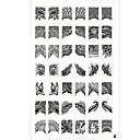 42 vzor nehtů Razítko ražení obrazu šablony desku