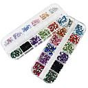 2x3000pcs 2mm okrugli 12-u-1 akrila vještački dijamant nail art ukras