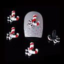 10ks krása Vánoce červená zplodí 3d slitina nail designu kutilství nail art dekorace