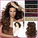 20インチ長い髪ピースカーリー波耐熱合成自然なヘアエクステンション