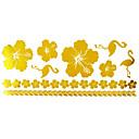 1ks zlatý dlouhý náramek tetování nálepka 23x10cm