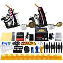 完全なタトゥーキット ライニングとシェーディングのために2×合金の入れ墨機械 2 タトゥーマシン LCD電源 インクは別々に出荷します