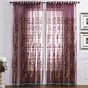 Dva panely Window Léčba Neoklasika Ložnice Polyester Materiál Sheer Záclony Shades Home dekorace For Okno
