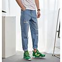 Pánské Jednoduchý Mikro elastické Džíny Kalhoty Rovné Mid Rise Jednobarevné