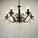 Ac110-240 obývací pokoj lustr jednoduchý křišťálové železo svíčka světla obývací pokoj dekorace lampy osvětlení