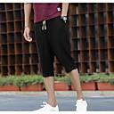 メンズ シンプル 活発的 ミッドライズ ストレート 非弾性 ショーツ パンツ ソリッド