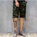 Pánské Aktivní Chinoiserie Není elastické Kalhoty chinos Kraťasy Kalhoty Volné Rovné Mid Rise maskování