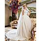Lanting Bride® Krinolina Sitna / Veći brojevi Vjenčanica - Šik i moderno / Elegantno i luksuzno Vjenčanice 2 u 1 / Čipkasti izgledDugi