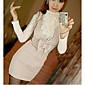 Novi stil graciozna dama slatka bowknot haljina marelica