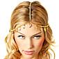 女性のためのshixin®ヨーロッパの葉のタッセル黄金の合金ヘッドバンド(1個)