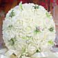 זר של כלה חתונה ורדים סימולציה זר חתונה 30 PE מחזיק פרחים, לבן