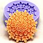 フォンダン菓子チョコレートケーキ用耐熱皿シリコーン花ベーキングモールド(ランダムカラー)