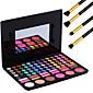 78 barvy pro kosmetické make-up kit pigmentové oční stíny ruměnec paleta lesk na rty nástroje + 4ks tužku makeup kartáč