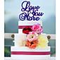 Figurky na svatební dort Nepřizpůsobeno Akryl Svatba / Výročí / Párty pro nevěstu Červená / Bílá / Zelená / Modrá 1 Umělá taška