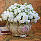 vysoce kvalitní umělá květina světlé barevné mini růže hedvábné květiny pro svatební a dekorační