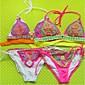 Ženski Bikini - Grudnjak s tankim naramenicama - Bez žice - Color block - Poliester