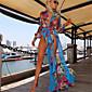Ženski Haljina Dugih rukava - V izrez Maxi , Šifon