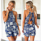 Women's Jumpsuit , Polyester Beach/Casual Sleeveless Amant