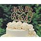 Figure za torte Personalized Par Classic / Hearts Kartica papira Vjenčanje / Godišnjica / Bridal Shower BijelaCvjetni Tema / Klasični