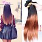 cara haarproducten maagdelijke Braziliaanse ombre haar steil two tone kleur 1b / 30 ombre hair extensions 3pcs / lot 6a