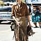 Vintage / Ležerno Ženski Suknje - Do koljena , Neelastično Brušena koža
