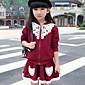 Dívka je Žakár Jaro / Podzim Sady oblečení Bavlna Černá / Růžová / Červená