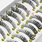 10 Pairs 睫毛 フルタイプつけまつげ まつ毛 クロスタイプ / ナチュラルロング / 目尻ロング 延長 / 持ち上げ / 濃密 / ナチュラル 手作り 繊維