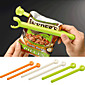 2ks plastové barevné jídlo uzavřeny klip těsnění hůl skladování čip sáček čerstvé potraviny svačinu klip grip káva (náhodné barvy)