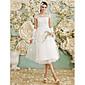 Lanting Bride® A-kroj Vjenčanica Do sredine lista Lađa izrez Til s Aplikacije
