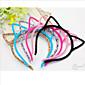 slatke mačke uha u obliku crne flanel headbands za žene (crna, siva) (1 kom)