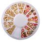 Nový příjezd módní obarvené kamínky na nehty zlatý hřeb slitina art glitter kolíky samolepky dekorace