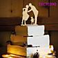 Figure za torte Non-personalizirane Par Classic Smola Vjenčanje Bijela Butterfly Theme 1 OPP