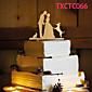 ケーキトッパー 非パーソナライズ 夫妻 樹脂 結婚式 イエロー 蝶テーマ 1 OPP
