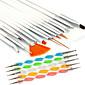 15pcs nail art dizajn slikanje crtanje olovkom četka set s 5pcs 2-smjerni dotting Marbleizing olovkom alat