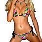 Ženski Bikini-Grudnjak na vezanjeS cvjetnim printom-Najlon / Spandex