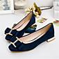 Ženske cipele-Ravne cipele-Ležerne prilike-PU-Ravna potpetica-Udobne cipele / Cipele zatvorenih prstiju-Crna / Plava