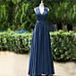 2017 formalna večernja haljina-line Queen Anne poda satena s različiti predmeti / drapiranje