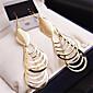 Naušnica Oval Shape Jewelry 1 par Moda Vjenčanje / Party / Kauzalni Legura / Pozlaćeni Žene / Djevojke Zlatna / Srebrna