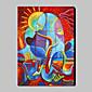 手描きの 抽象画 / 抽象的な肖像画Modern / トラディショナル 1枚 キャンバス ハング塗装油絵 For ホームデコレーション