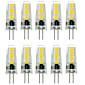 7W G4 LED Bi-pin světla T 12 SMD 5733 500-600 lm Teplá bílá / Chladná bílá Ozdobné / Voděodolné DC 12 V 10 ks