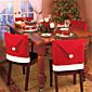 4pcs modni Djed Mraz kapu Red Hat namještaj stolac pokriju Božića stolom strana omogućili Božić novu godinu ukras