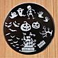 Design halloween kolo z nerezové oceli nehtů desky nail art image