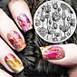 2016 nejnovější verze módní vzor květiny nail art ražení jako šablona desky