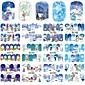 12 designs ,12 different images Nail Art samolepka Voda na přestupy Nálepky make-up Kosmetické Nail Art design