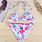 Ženski Bikini-Grudnjak na vezanjeJednobojni / Geometrijski oblici / Na vezanje-Poliester